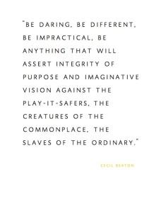 be daring